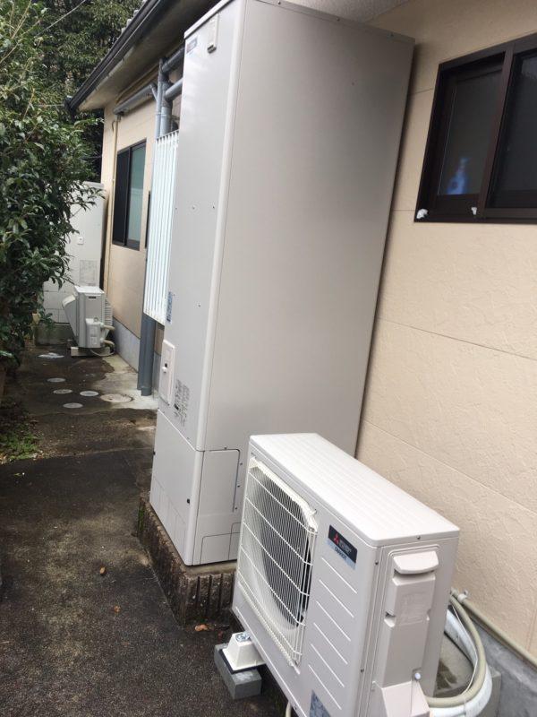 電気温水器から三菱 エコキュート SRT-S464へ交換(京都市左京区)