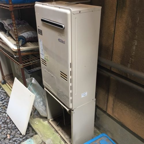 リンナイエコジョーズ RUF-E2405SAW(A)の取替工事(京都市北区)