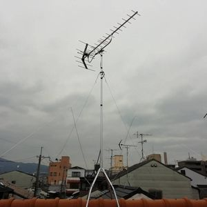 地上デジタルアンテナの立替工事【京都市北区】