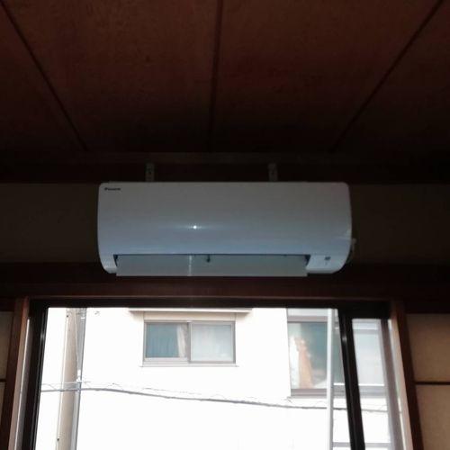 エアコン新設取付工事【京都市左京区】