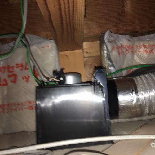 浴室換気扇 東芝 DVF-T10CB 交換工事(京都市北区紫野)