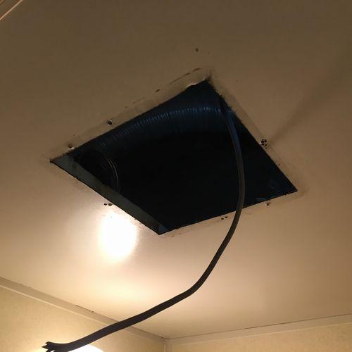 浴室換気扇の交換工事 三菱電機 VD-13ZFC10 【京都市左京区】