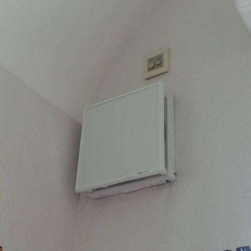 壁埋込換気扇の交換