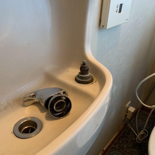 【INAX LF-76】トイレ手洗い水栓交換【京都市北区上賀茂】