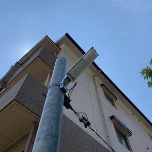 駐車場の防犯灯取替工事【京都市左京区】