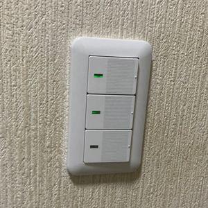 洗面トイレ換気扇スイッチ交換(京都市北区)