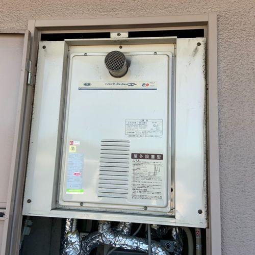ガス給湯器交換工事【高温差湯式PS扉内設置 RUJ-V1611T】(京都市北区)