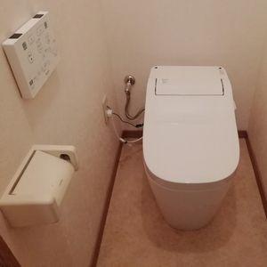 トイレの取替交換工事【アラウーノS2 XCH1401WS】(京都市北区)