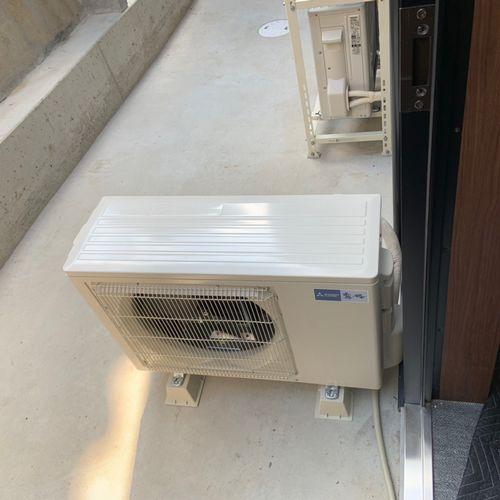 エアコンの新設設置【三菱 MSZ-GV5619S】(京都市中京区)