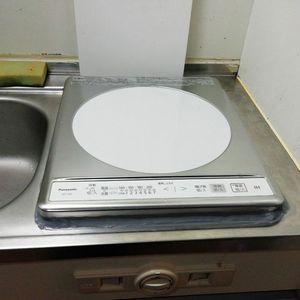1口IHコンロの交換【パナソニック KZ-11C】(京都市北区)