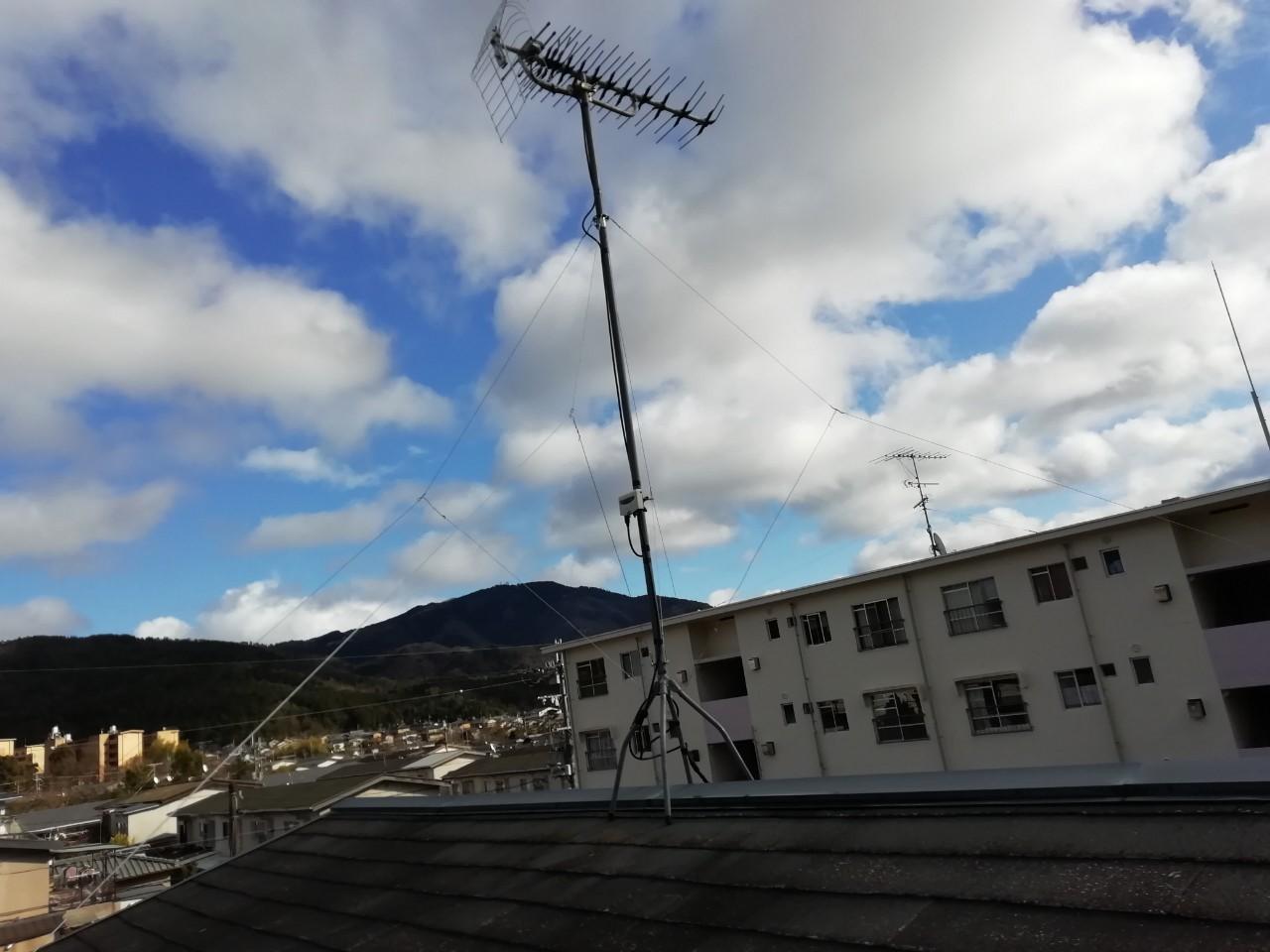 アンテナ修理(支線の張替え)【京都市左京区】
