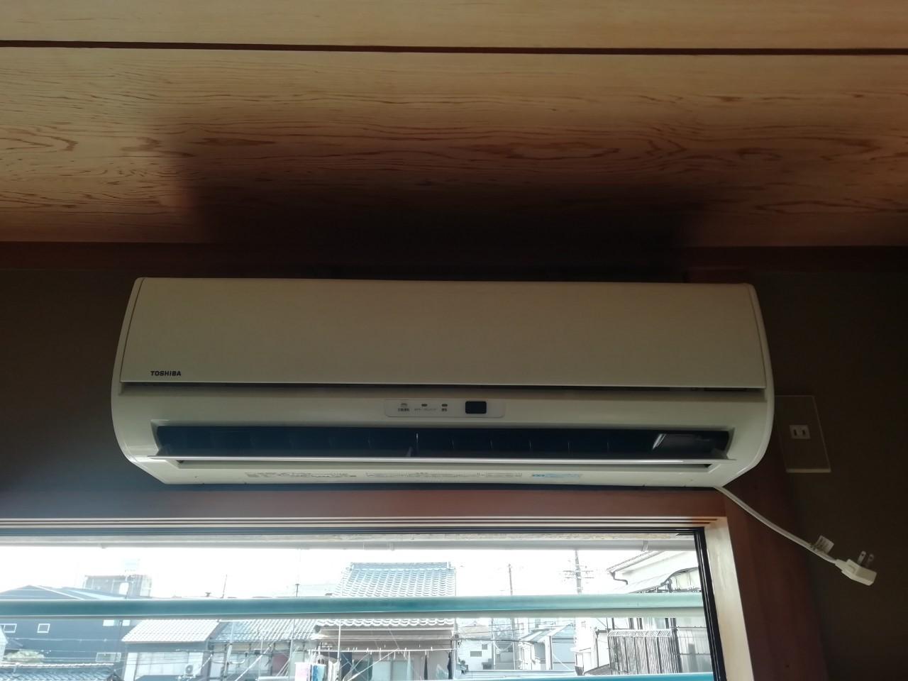 三菱 自動お掃除機能付きエアコンの取替え(MSZ-BXV2518)【京都市北区紫野】