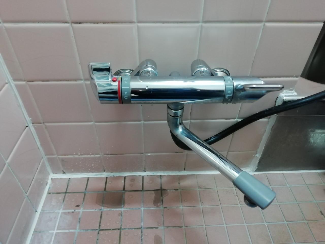 浴室サーモスタットカランの交換(TBV03401J)【京都市北区紫野】