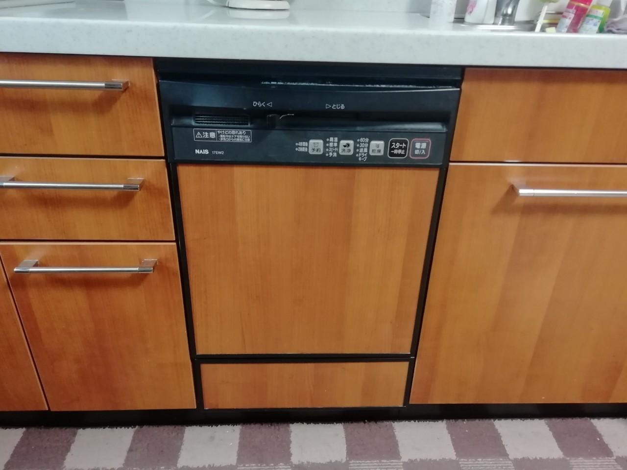 ビルトイン食器洗乾燥機の取替工事(NP-45MD8S)【京都市北区】
