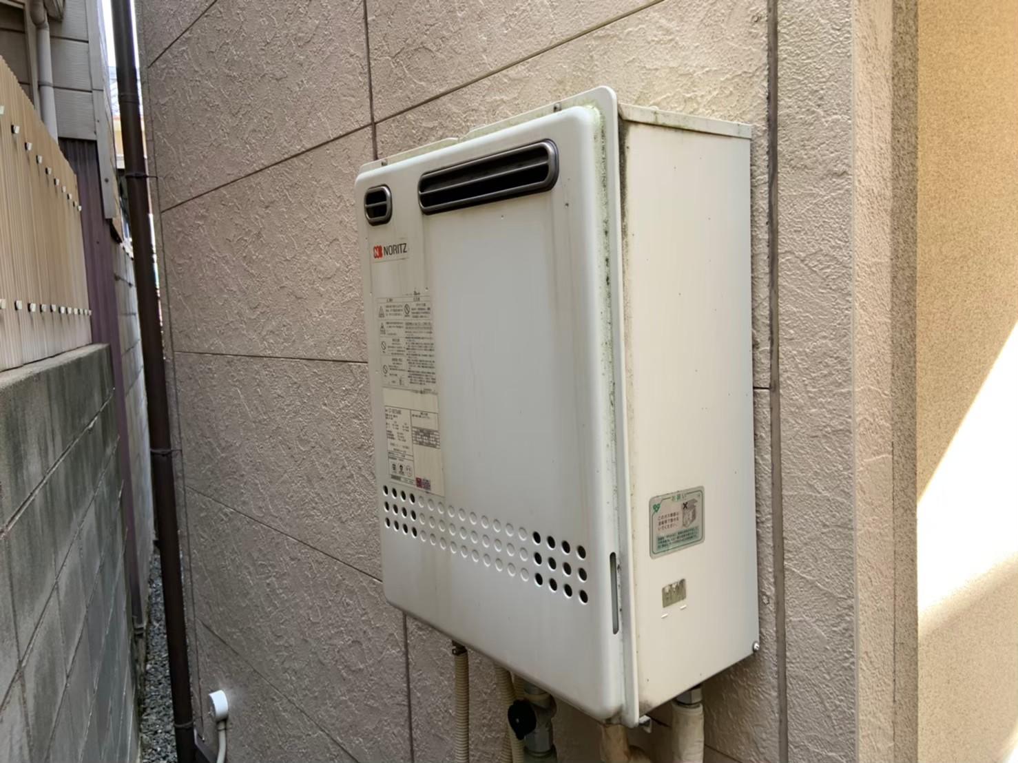 ガス給湯器エコジョーズの交換工事(リンナイ RUF-E2405SAW(A))【京都市北区紫竹】