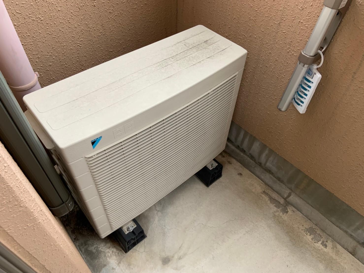 ワンルームマンションのエアコン交換(CS-289CF)【京都市北区大宮】