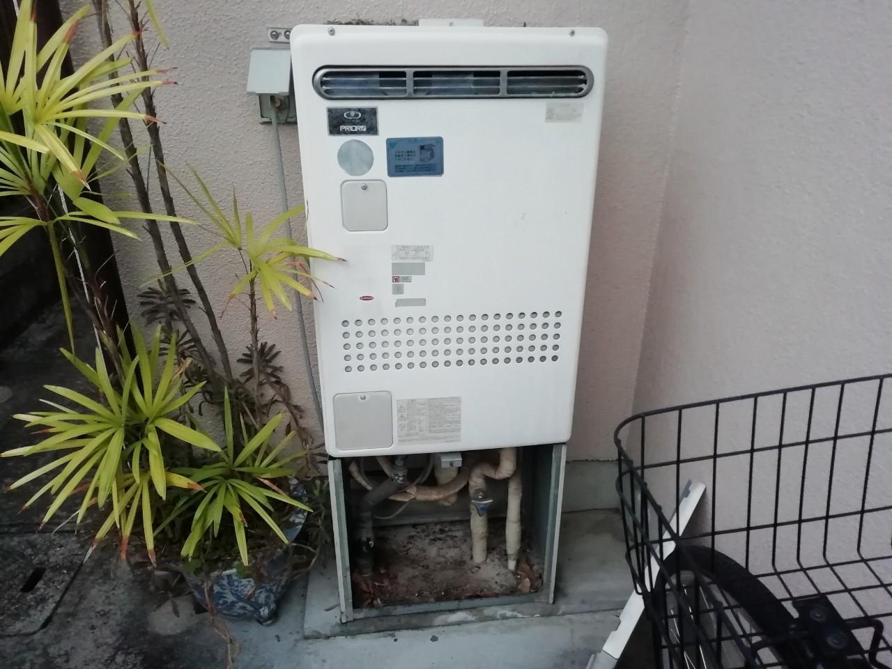 従来型ガス給湯熱源機からエコジョーズへ交換工事(RUFH-E2405SAW)【京都市左京区岩倉】