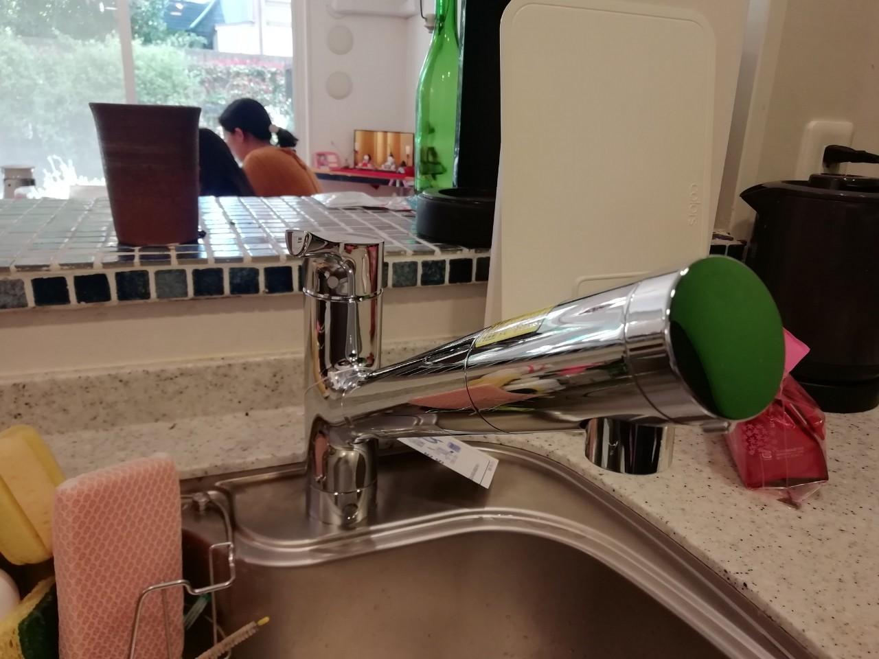 キッチン水栓カランの交換(TKS05308J)【京都市右京区】
