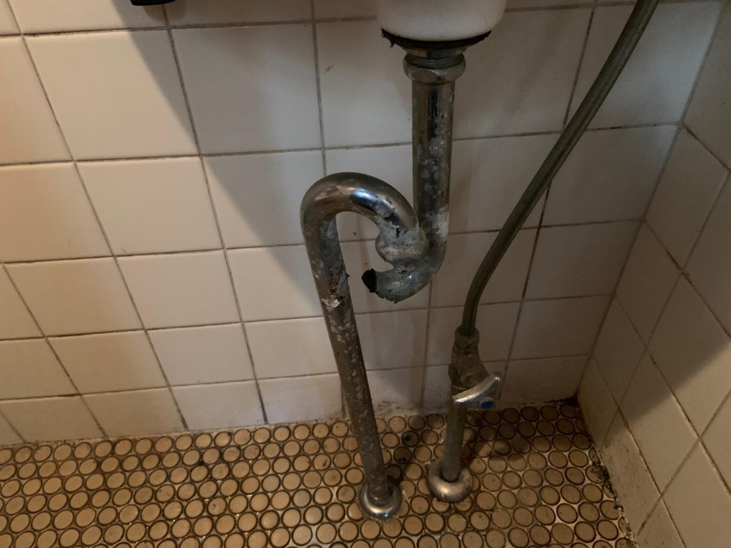洗面手洗のSトラップ交換【京都市北区】