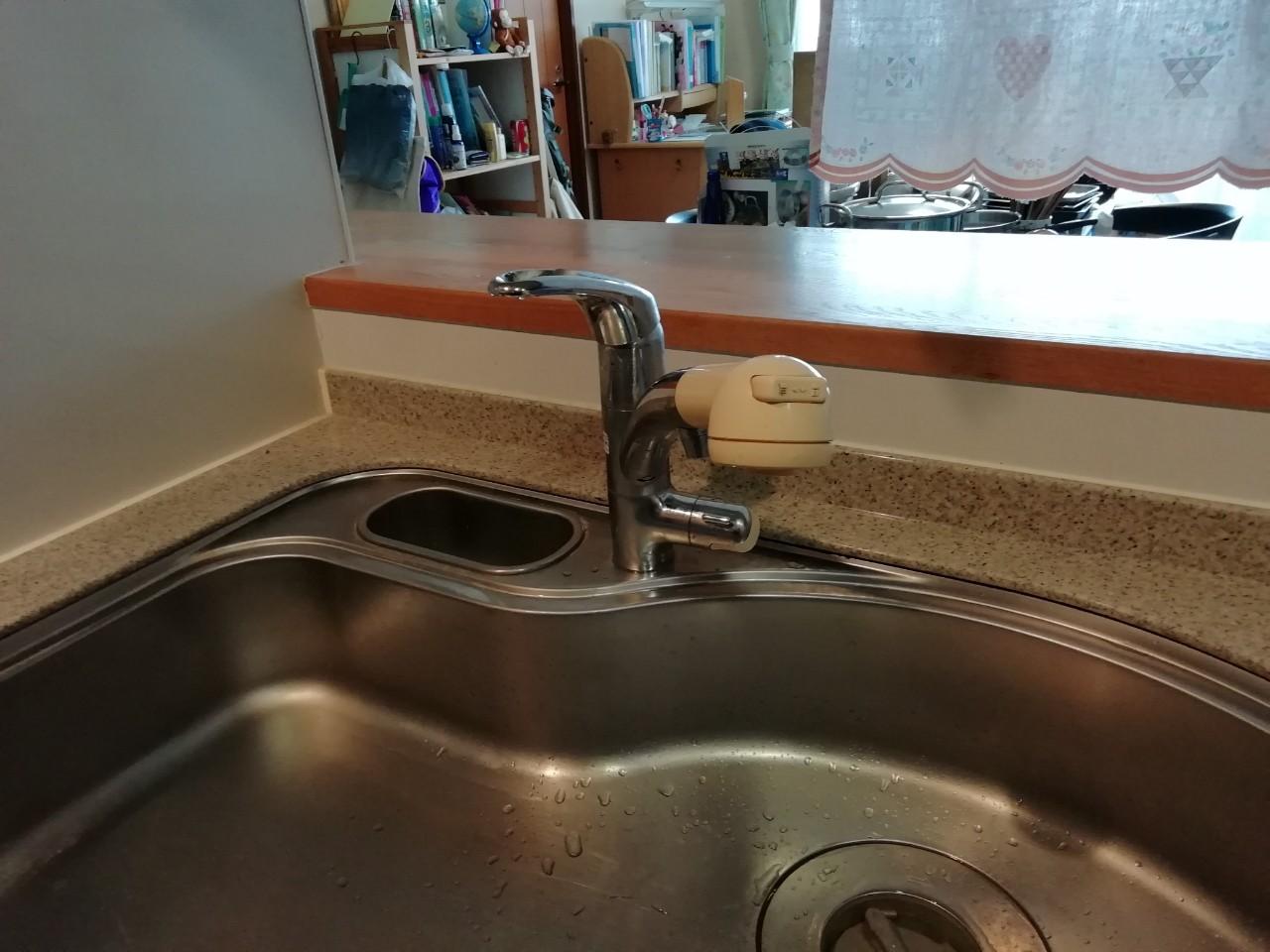 キッチン水栓の交換工事(JF-AJ461SYXBV(JW))【京都市北区紫野】