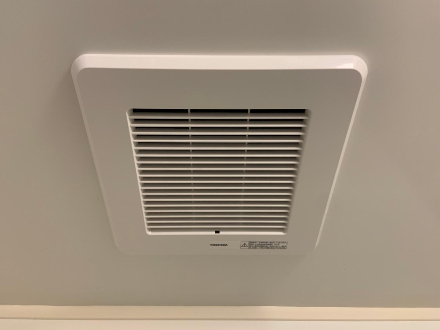 浴室2室用換気扇の交換(DVP-T14CLDK )【京都市中京区】