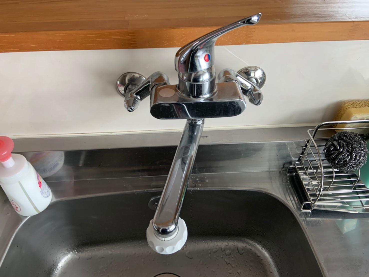キッチンのカラン水栓交換|KVK KM5000T|京都市左京区