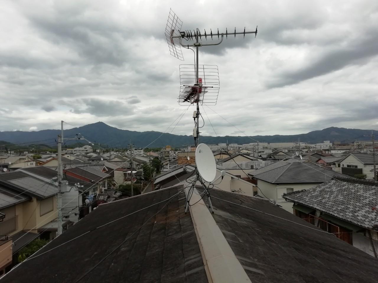 テレビアンテナの修理|京都市北区紫野