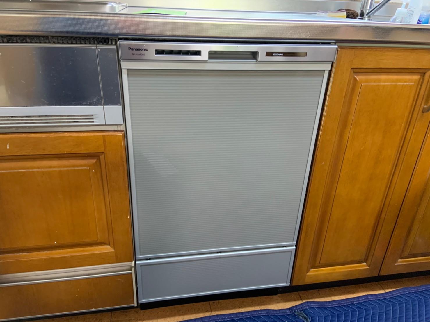 ディープタイプのビルトイン食洗機へ取替工事|NP-45MD8S|京都市北区