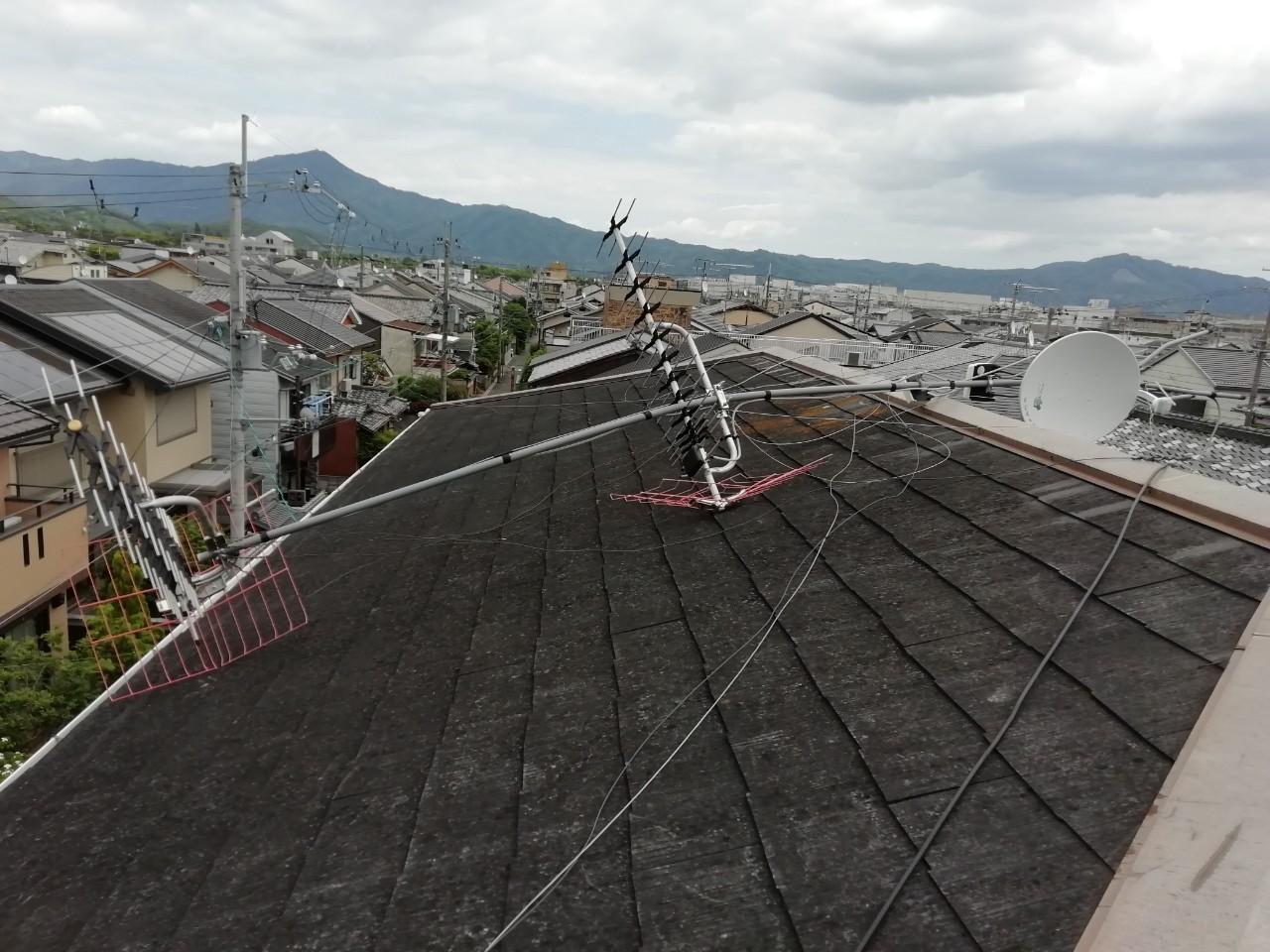 テレビアンテナの修理 京都市北区紫野