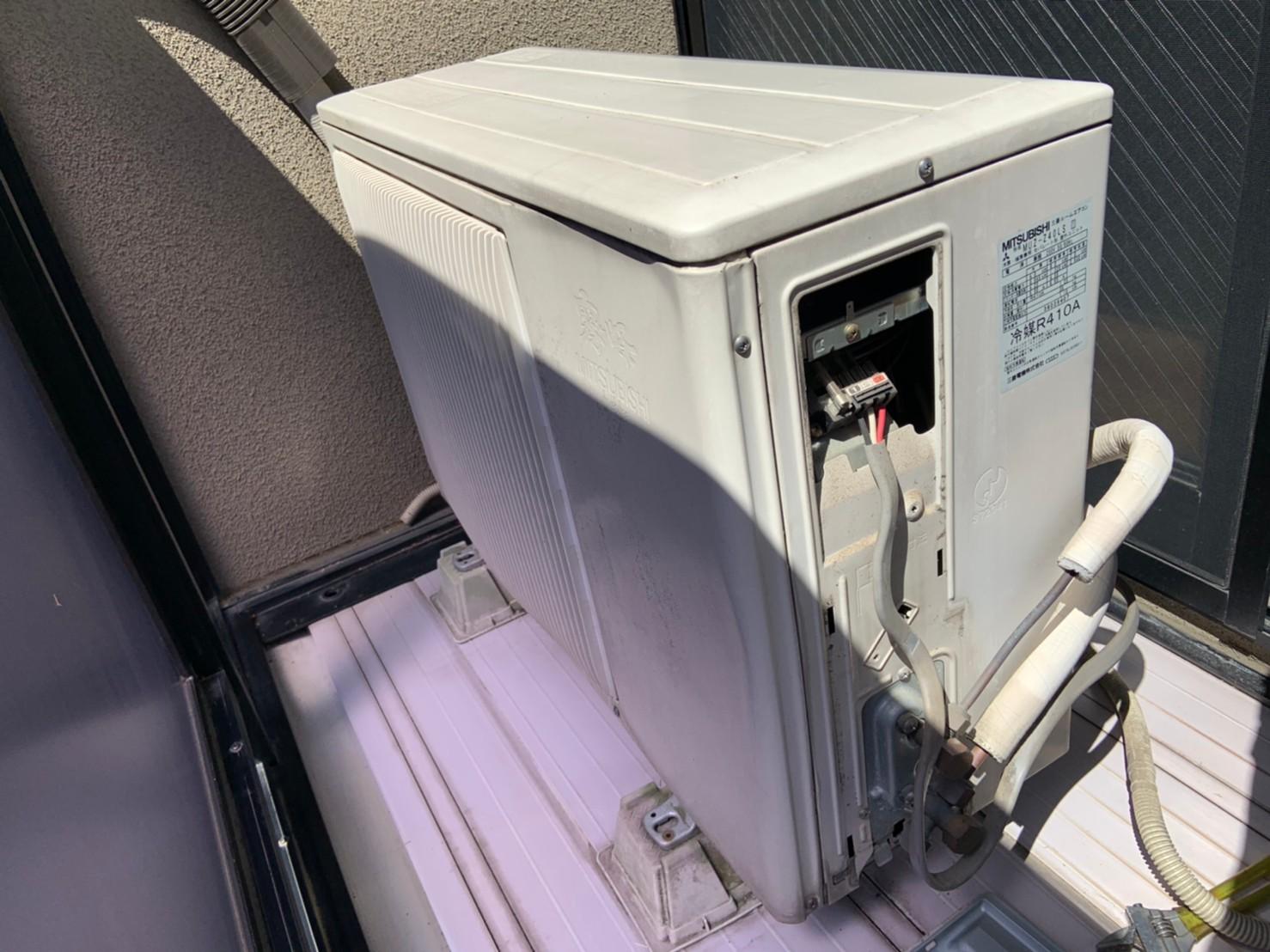 エアコン交換・室外機の移動工事|CS-569J2|京都市右京区太秦