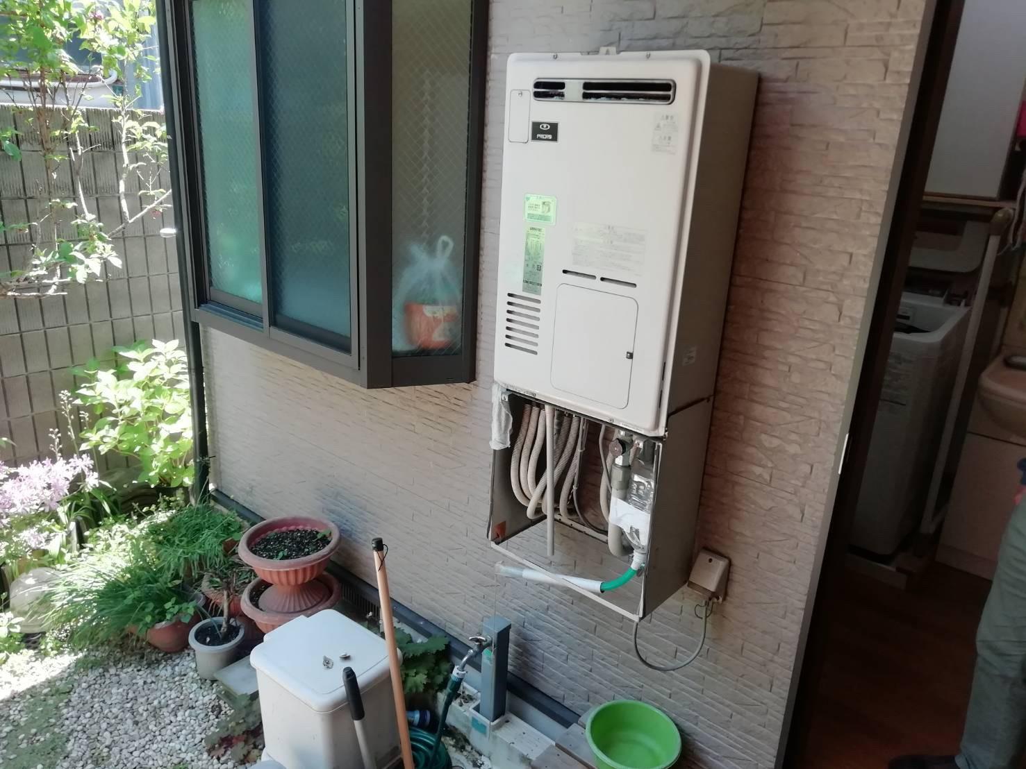 ガス給湯暖房用熱源機の交換|RVD-E2405AW2-3|京都市北区