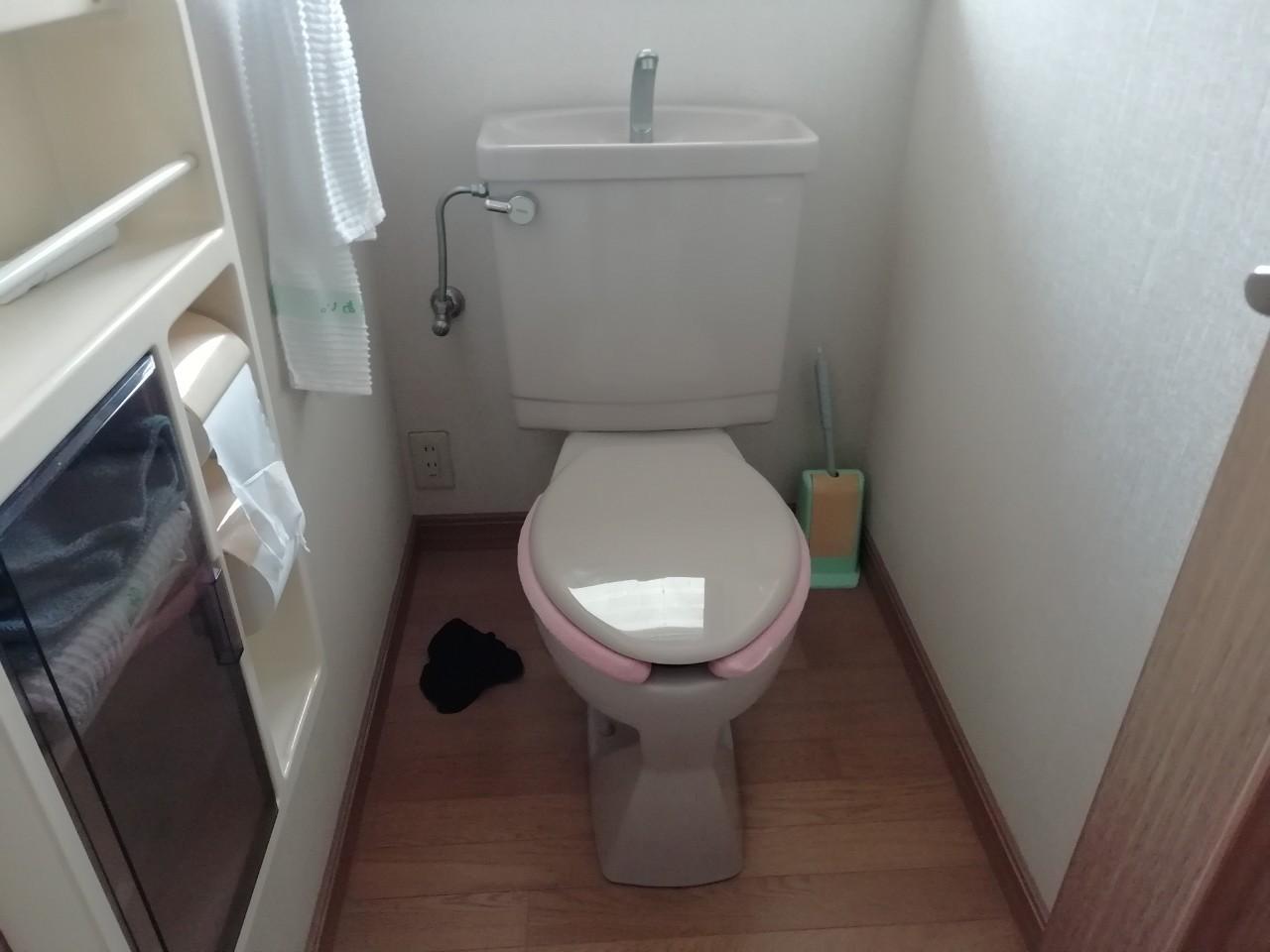 節水型TOTO トイレの取替工事|CES9314Lリモデル |京都市北区上賀茂