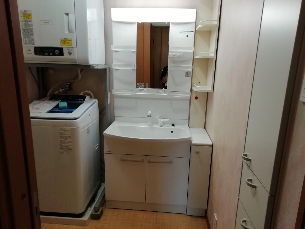 洗面化粧台のリフォーム工事|パナソニック エムライン|京都市北区紫野