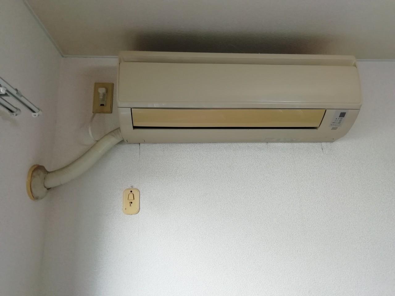 ワンルームマンションのエアコン交換|パナソニック CS-229CF|京都市東山区