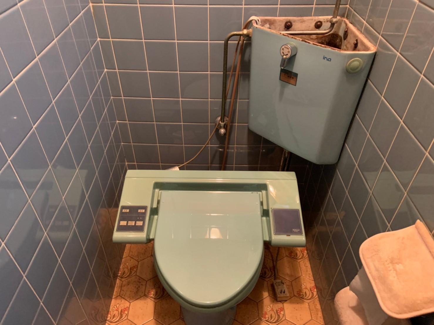 隅付トイレの交換工事|京都市北区紫竹