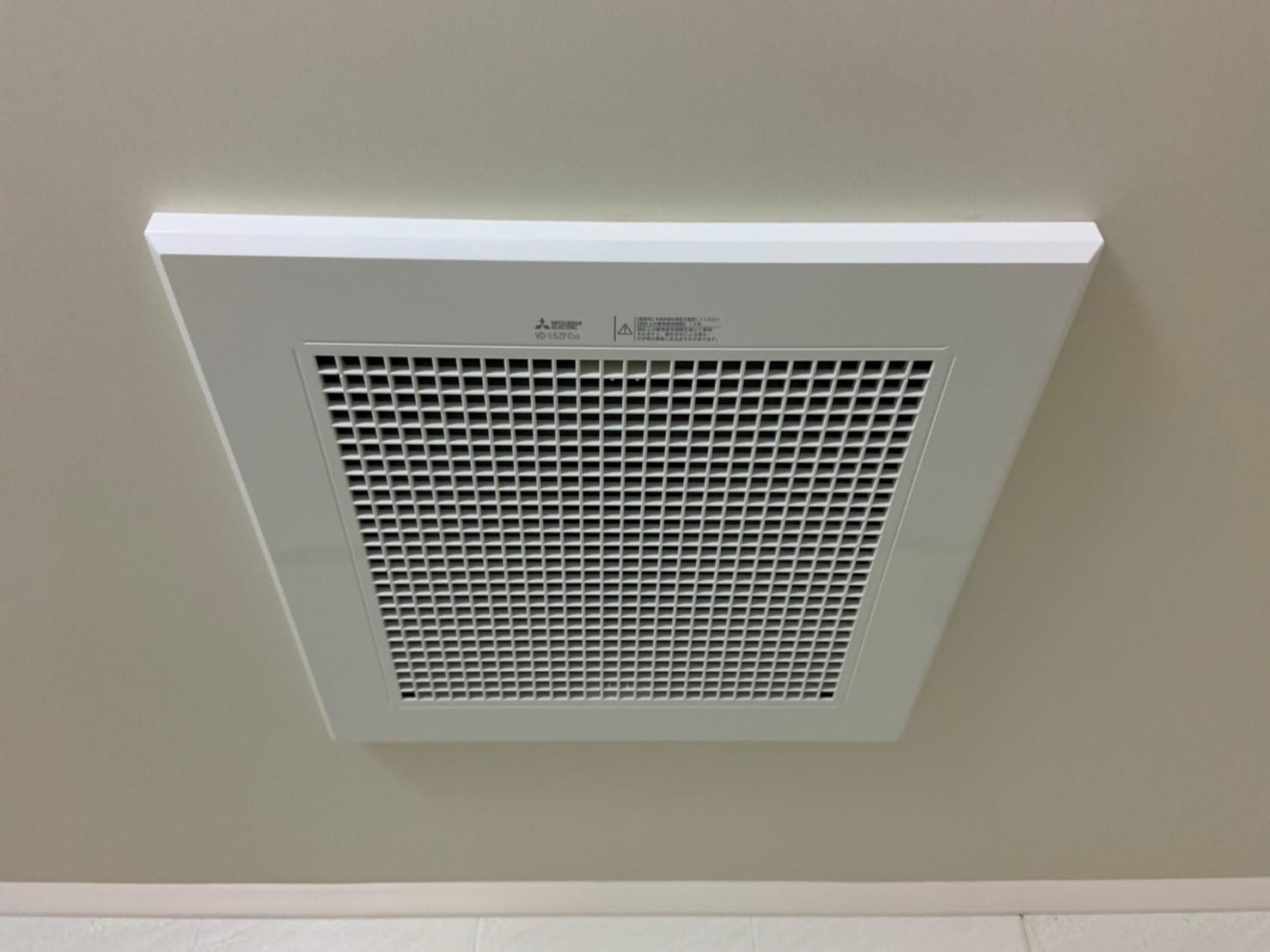 浴室換気扇の交換工事|VD-15ZFC10|京都市中京区