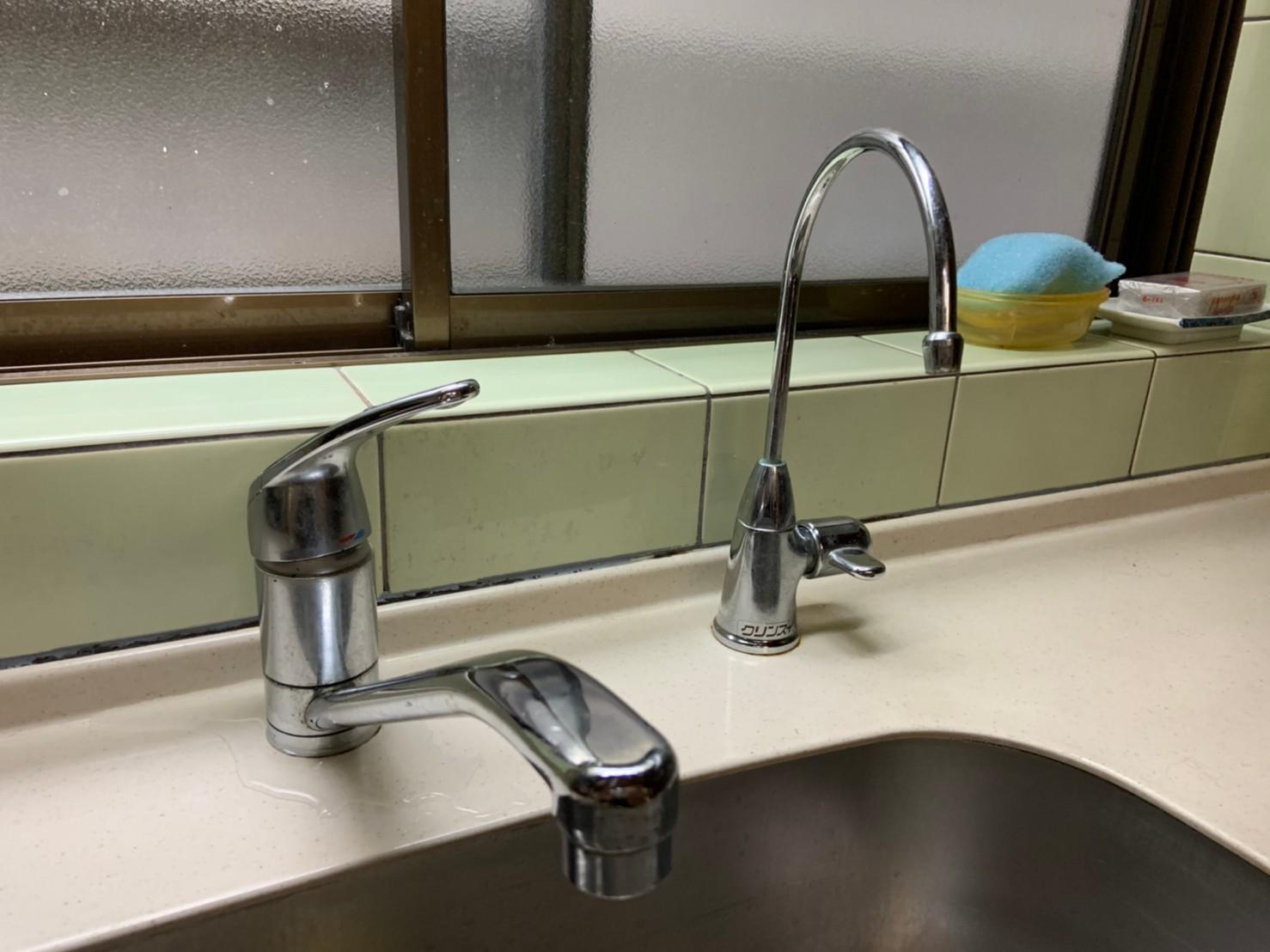 キッチン水栓・ビルトイン浄水器の交換|京都市北区
