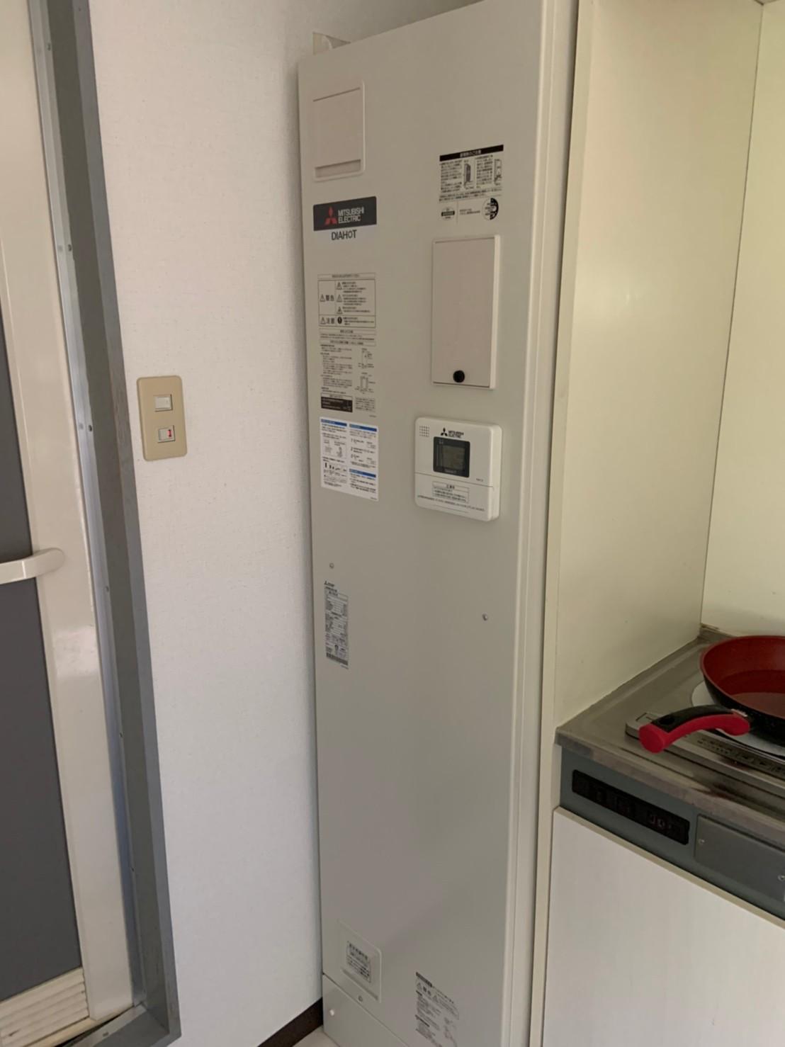 ワンルームマンション 電気温水器の交換工事|京都市左京区