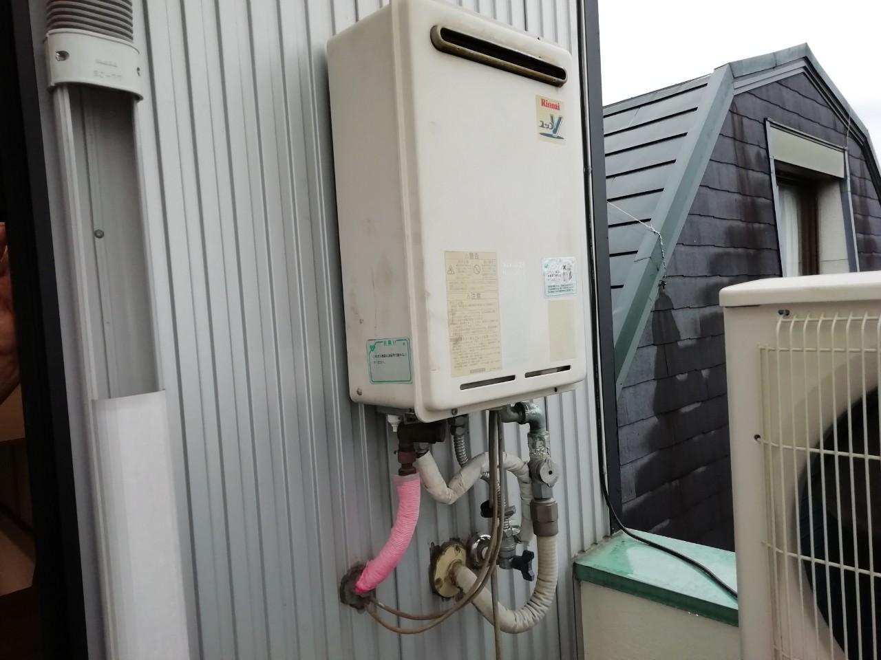 ガス給湯器の交換工事|RUJ-A2400W|京都市北区