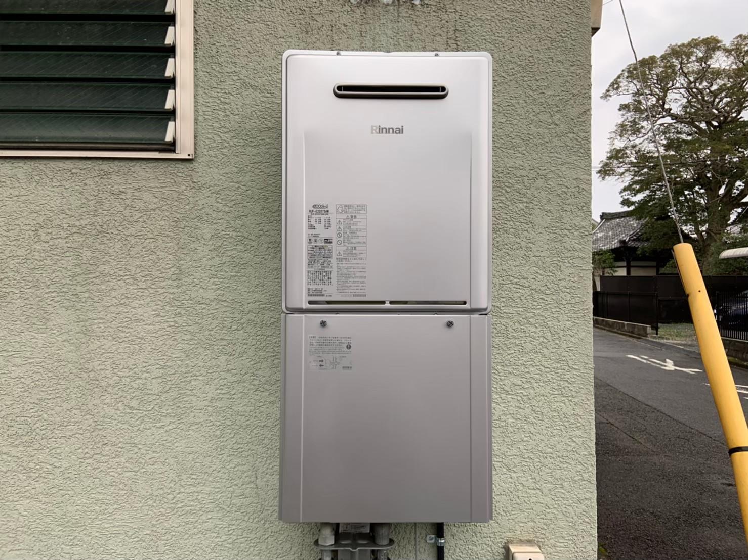 ガス給湯器の交換工事|RUF-E2007SAW|京都市上京区