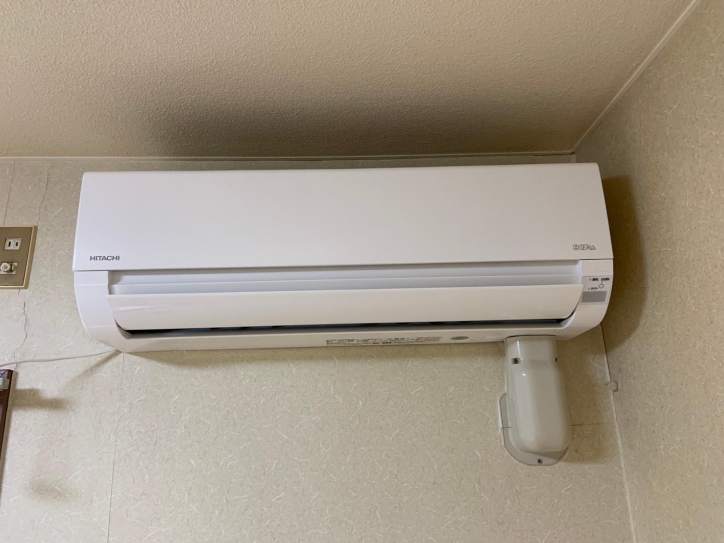 賃貸マンションのエアコン交換|RAS-AJ28K|京都市北区