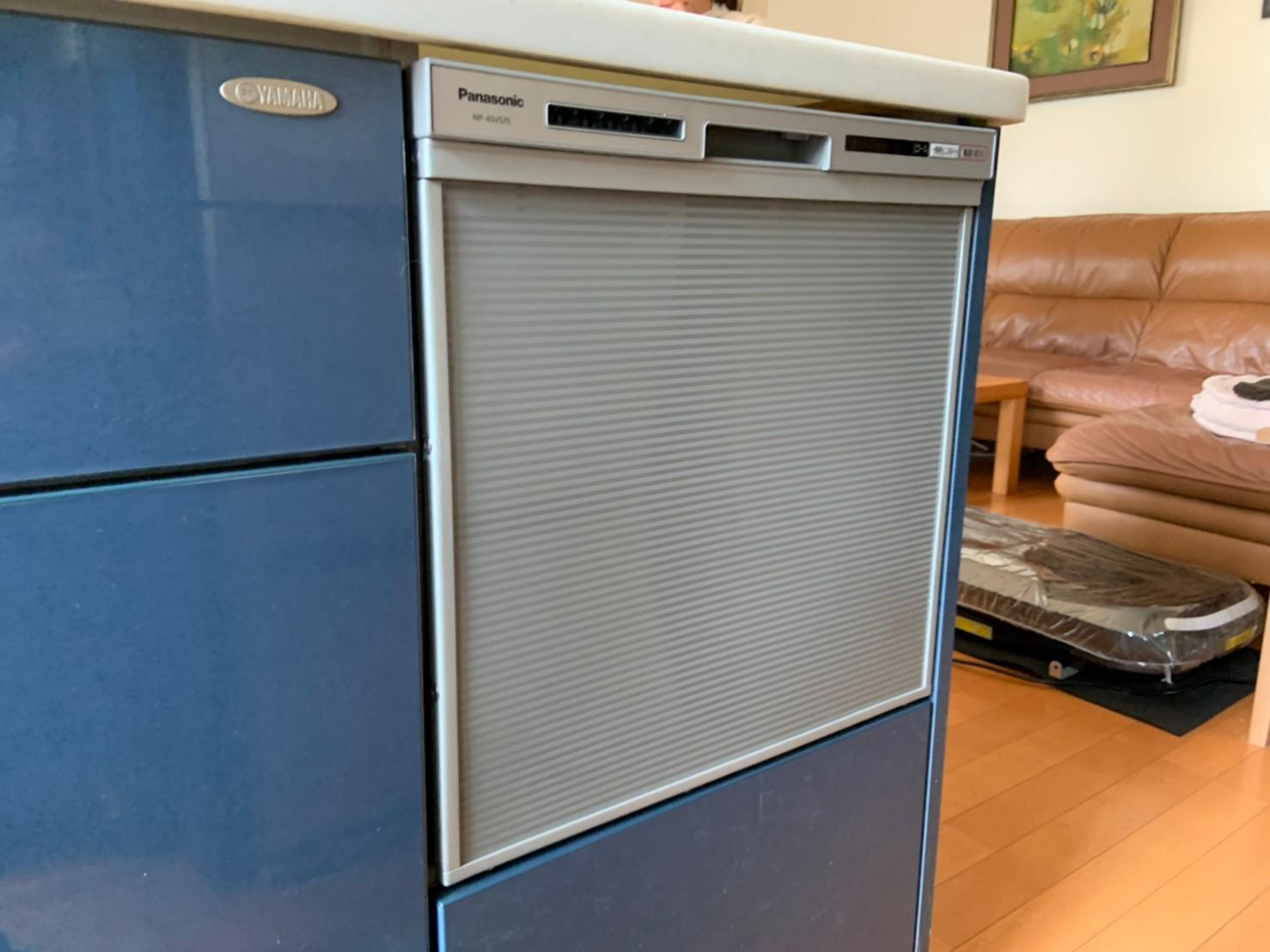 ミドルタイプ ビルトイン食洗機の交換工事|NP-45VS7S|京都市北区