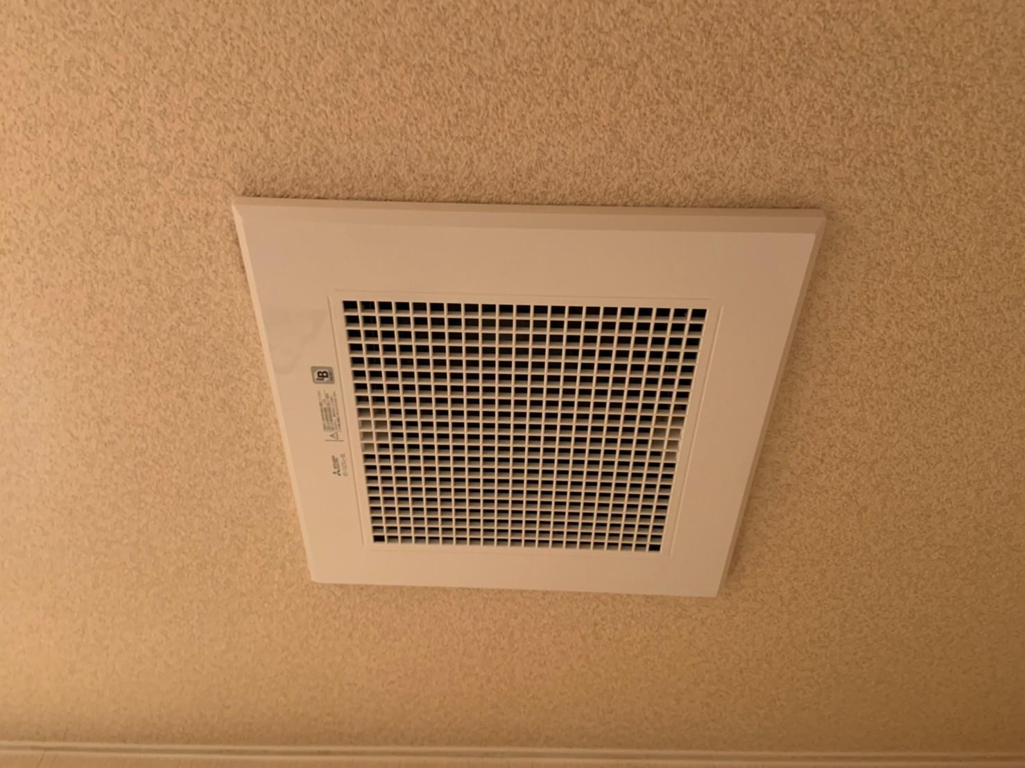 マンショントイレの換気扇交換|VD-10ZS12-BL|京都市下京区
