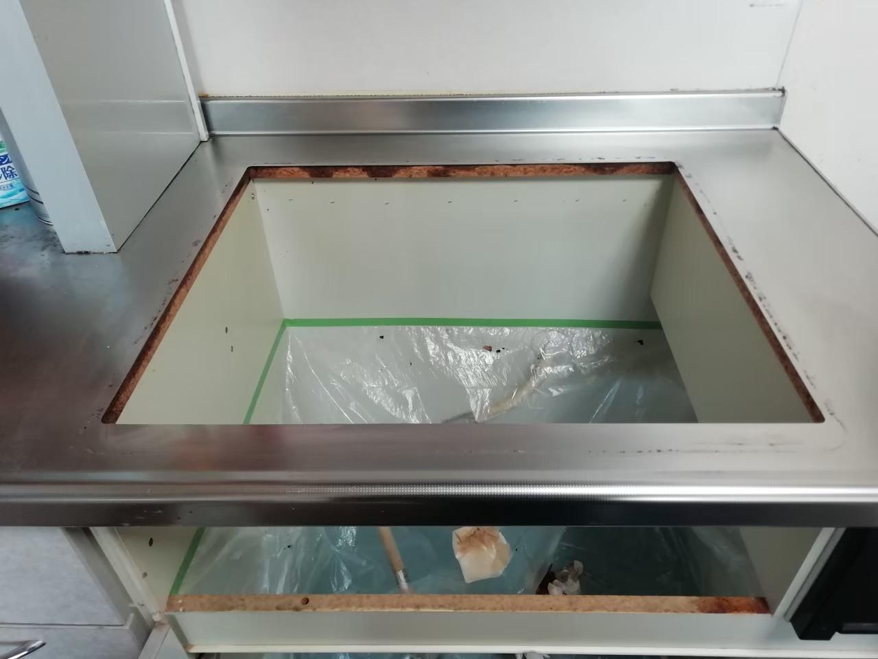 リンナイ メタルトップ ガスコンロの交換|RS31W28H2RBW|京都市左京区岩倉