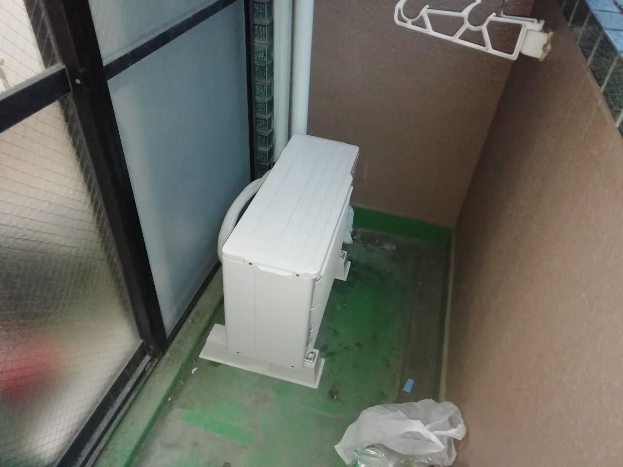 ワンルームマンションのエアコン交換|MSZ-GV2220|京都市東山区